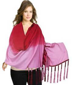 Super Drool Red Solid Casual Wear Stoles