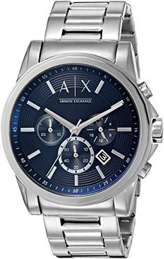 Armani Exchange Mens AX2509  Silver  Watch *** You can get more details by clicking on the image.