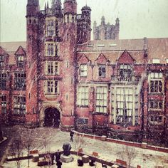 Newcastle University in the snow, perfection.