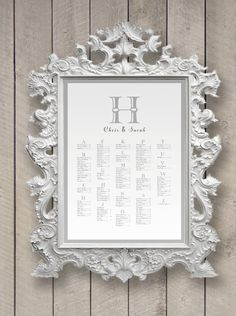 Wedding Seating Chart Monogram