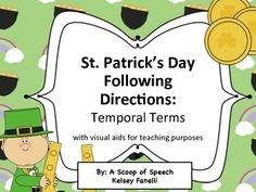 FREE St. Patrick's Day Following Directions: Before/After Concepts. 15 page freebie! This document is a festive way to target those challenging temporal concepts: before & after!