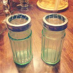 Green depressed glass frog lid vases! Vintage find, so many uses!