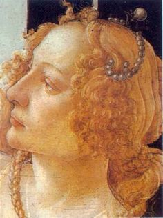 Grace by Sandro Botticelli Gen's note: good period hairstyle inspiration