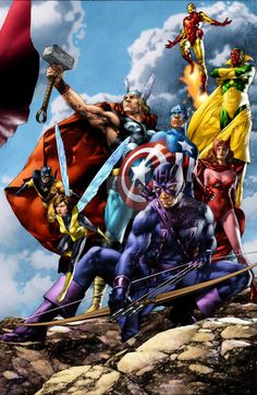 """Alliance 2 Avengers A"" by Jay Anacleto, Colors by Moose Baumann 