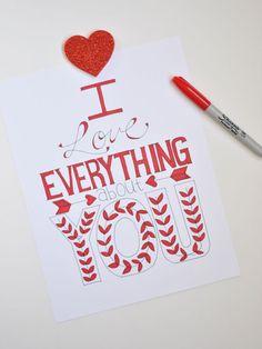 Easy Valentines  - link to free printable