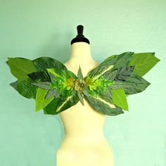 Fairy Wings  WOODLAND FAIRY WINGS  Green Leaf by FairyNanaLand, $40.00