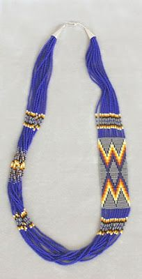 Miami Indian Nation Porcupine Necklace | Native American BEADWORK: Modern Techniques