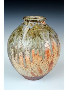 shino vase stoneware
