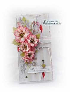 Handmade by Karasiowa Mixed Media Cards, Handmade Envelopes, Shabby Chic Cards, Fancy Fold Cards, Shaped Cards, Congratulations Card, Heartfelt Creations, Pretty Cards, Card Tags
