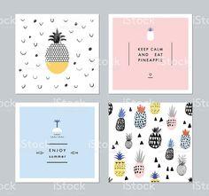 Set of creative trendy art posters plus seamless pattern royalty-free stock vector art
