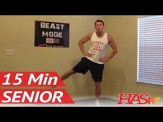 15 Minute Senior Workout - HASfit's Low Impact Workout - Senior Exercises - Exercise for Elderly - YouTube