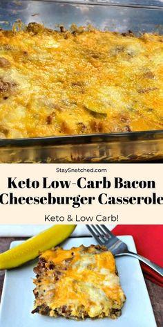 Keto bacon cheeseburger CASSEROLE Diet Recipes, Chicken Recipes, Healthy Recipes, Keto Chicken, Recipes Dinner, Keto Recipes With Bacon, Easy Diabetic Meals, Dinner Recipes Easy Quick, Restaurant Recipes