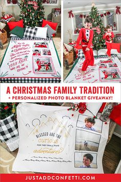 For the past few months I've been working with FOTO Vision on a Just Add Confetti line of personalized photo blankets! How amazing, right? To add to the fun, you can enter to win one! These beautiful blankets would make wonderful Christmas gifts...or become part of your own family traditions! #FOTOVisionGifts #LiveLifeinColor #JustAddConfetti #photoblanket  #christmasgifts #christmasdecor #christmas