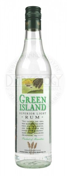 Green Island - Superior Light Rum  This rum has been around since 1960 and to this day remains in the same distinctive packaging. The rum is made from molasses and has gone through a 4 column still. Green Island Superior Light Rum is a blend of 3 and 5 year oak aged rums. During the ageing process... (read more...)