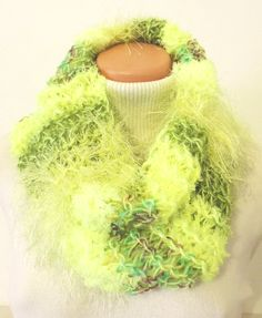 """Cowl, which you can wear around your neck. Thick and warm, many colors :-) Measurement: Scarflette length is ~ 23""""x20"""" (~ 60x52 cm.) Composition: - 10 % Wool, 20 % Acrylic, 35 % Micro Polyamide + 35 % Polyester - neon light green. Handmade with ♥ $11.72 USD Neon Lighting, Cowls, Composition, Warm, Green, Handmade, Hand Made, Craft, Being A Writer"""