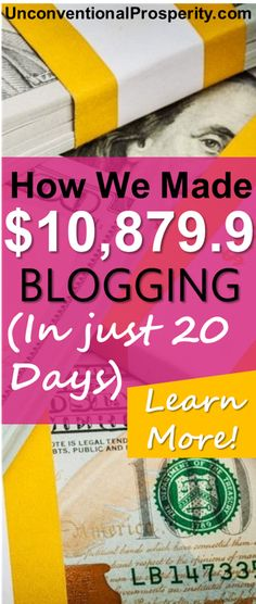 Get started blogging for money as soon as you can! Why? Read our December online income report, that describes how to make extra cash blogging using a simple wordpress blog!