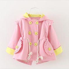 2-5 year old cute fashion girl fall cotton long sleeve jacket