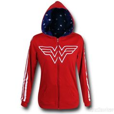 Images of Wonder Woman Reversible Women's Hoodie