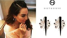 Sonakshi earrings by Outhouse   #Celebs #Awards #Events