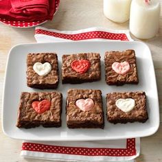 Valentine Heart Brownies Recipe from Taste of Home