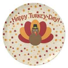 Thanksgiving Melamine Plate