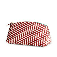 """Serena and Lily's Travel Cases are on sale 100% cotton canvas with leather pulls and easy-to-clean waxed cotton lining. 11"""" w x 4""""d x 6"""" h   Down from $58.00 to $17.99  Lots of different sizes and fabrics."""