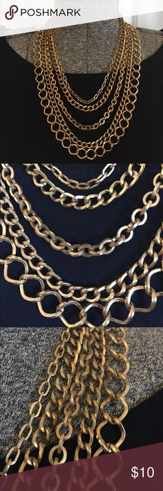 Gold layered necklace Warning: slight signs of tarnish but still has a ton of life left! Too fabulous not to list it! Thanks so much for visiting my page if you have any questions please let me know! Jewelry Necklaces