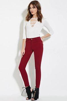 Mid-Rise Skinny Jeans | Forever 21 #forever21denim