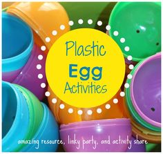 plastic egg activities linky party