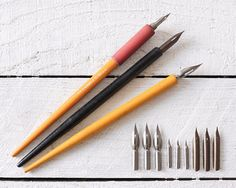 Vintage Dip Pens with Nibs  Liquid Ink Writing by smilemercantile, $23.50