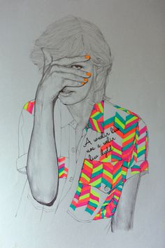 drawing + highlighers. by niki piklington