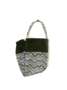 Fabric Plastic Bag HolderGrocery Bag Holder Grey by bagsbyhags45, $10.00