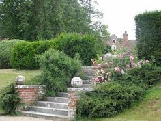 steps in the garden at Godinton House