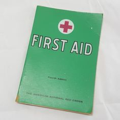 Vintage American Red Cross First Aid Manual- 4th Edition 23rd Printing 1965- Field Medicine Guide Book- Color Illustrations & Anatomy Charts by PinkFlyingPenguin
