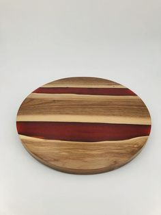 Butcher Block Countertops, Lazy Susan, Wood Cutting Boards, Walnut Wood, Kitchen Retro, Dining Table, Woodworking, Rustic, Red