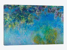 """Wisteria by Claude Monet Canvas Print 40"""" L x 26"""" H x 0.75"""" D"""