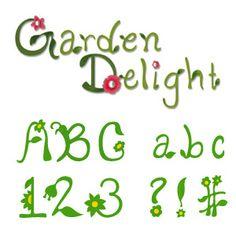 Sizzix Sizzlits Alphabet Set 35 Dies - Garden Delight