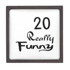 #20 Really Funny Birthday Designs Jewelry Box - #giftidea #gift #present #idea #number #twenty #twentieth #bday #birthday #20thbirthday #party #anniversary #20th