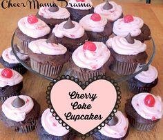 THREE CHEERS FOR CHERRY COKE CUPCAKES Check out my super simple semi-homemade Cherry Coke Cupcakes. They are sure will make your whole family cheer.