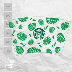 Starbucks Cup Design, Starbucks Tumbler Cup, Starbucks Venti, Personalized Starbucks Cup, Custom Starbucks Cup, Personalized Cups, Coffee Cup Art, Leaf Template, Templates