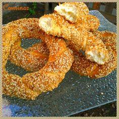 Simit - sezamové kruhy (fotorecept) - obrázok 18 Onion Rings, Bagel, Doughnut, Bread, Baking, Ethnic Recipes, Food, Basket, Brot