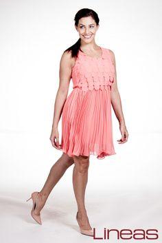 Vestido, Modelo 17921. Precio $200 MXN #Lineas #outfit #moda #tendencias #2014 #ropa #prendas #estilo #primavera #vestido