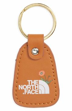 4f937626c5a4 Main Image - The North Face Leather Logo Key Chain Nordstrom