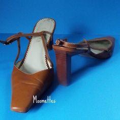 Lauren Ralph Lauren Brown Slingback Shoes Heels Womens Size 9.5 #LaurenRalphLauren #Slingbacks #Casual