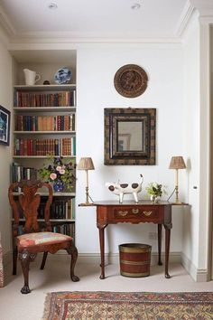 More click [.] Bookshelves For Small Spaces Walls Graduated Sized Bookshelves House Garden Bookshelf Ideas Small Space Storage Solutions House Garden Bookshelves For Small Spaces, Small Space Storage, Home Interior, Interior Design, Luxury Interior, Interior Ideas, London Townhouse, Deep Shelves, Study Areas