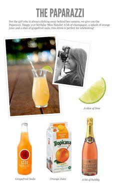 Fun Cocktail Recipe - DIY for my 21st Birthday! #diy #cocktail #drink #yum
