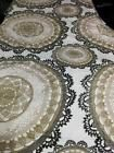 IKEA Twin Size Lace Medallion 100% Cotton Duvet Cover Brown and Tan on White