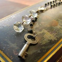 Three crystals vintage rosary necklace from Callooh Callay. She has the most incredible finds!