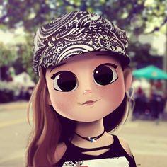 Avatar Beautiful of Dollify - Jutaan Gambar Cute Girl Drawing, Cartoon Girl Drawing, Cartoon Drawings, Cartoon Art, Cute Drawings, Chica Cool, Cute Cartoon Girl, Girly Pictures, Cute Anime Pics