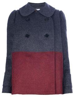 $1651.06 CARVEN Colour Block Oversized Jacket